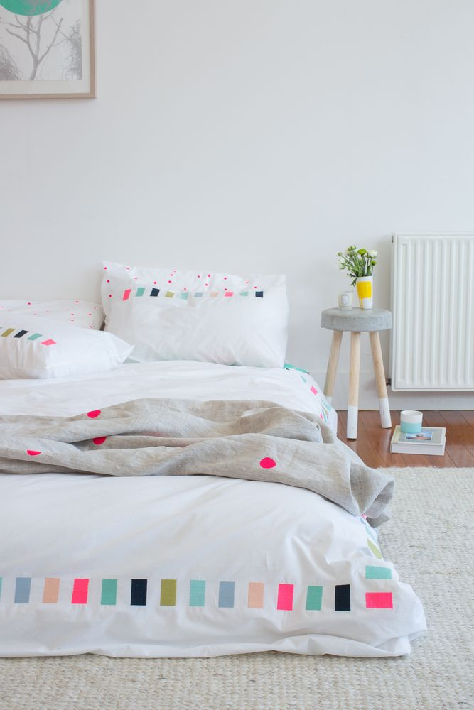 Thread Lightly Embroidered Linen by Feliz - starting from $39.00. Aside from the fact that we love the clever name of this bedlinen, it's also the perfect blend of crisp clean organic bedding with a pop of colour. We know you can mix and match with Feliz's bedlinen but the whole Thread Lightly set makes it on our Christmas gift list this year. It's flawless.