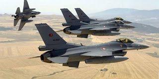 Τουρκικά μαχητικά αεροσκάφη βομβάρδισαν χθες 15 στόχους στην περιοχή Αλ Μπαμ στα βόρεια της Συρίας κατά τη διεξαγωγή πολεμικής επιχείρησης