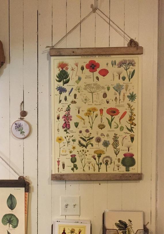 Wildflowers Print Floral Wall Art Floral Print Vintage