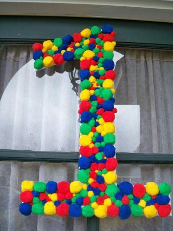 Цифра для детского дня рождения своими руками фото 184