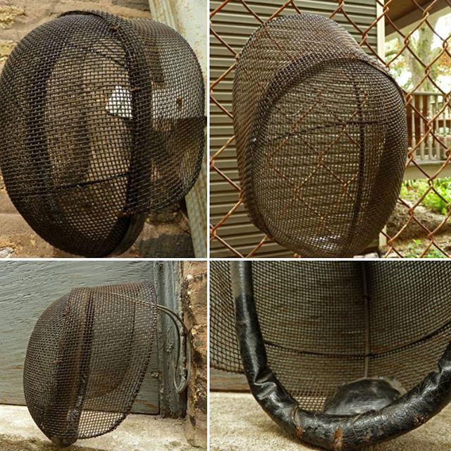 Antique Fencing Mask - Vintage - Metal Wire Mesh and Leather - Handmade at Modalabode.etsy.com (Link in bio) #Fencing #swordfight #vintage #vintagesports #sportsmemorabilia #metal #wire #mesh #Modalabode #modalabodevintage #antique #Etsy #etsyseller #vintage  #vintage4sale #instasale #shopinsta #instashop #vintagehome #vintagelife #Vintagelifestyle