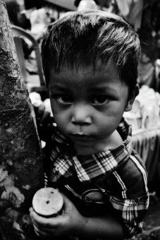 Haryansyah Kasim: Slumdog child with cake.