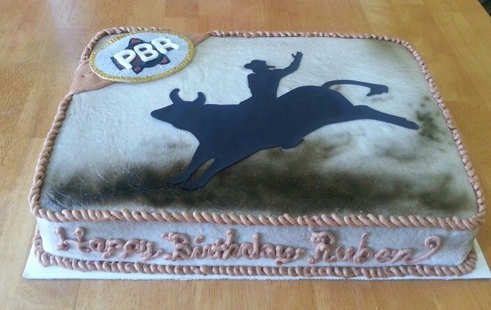 bull riding birthday cakes