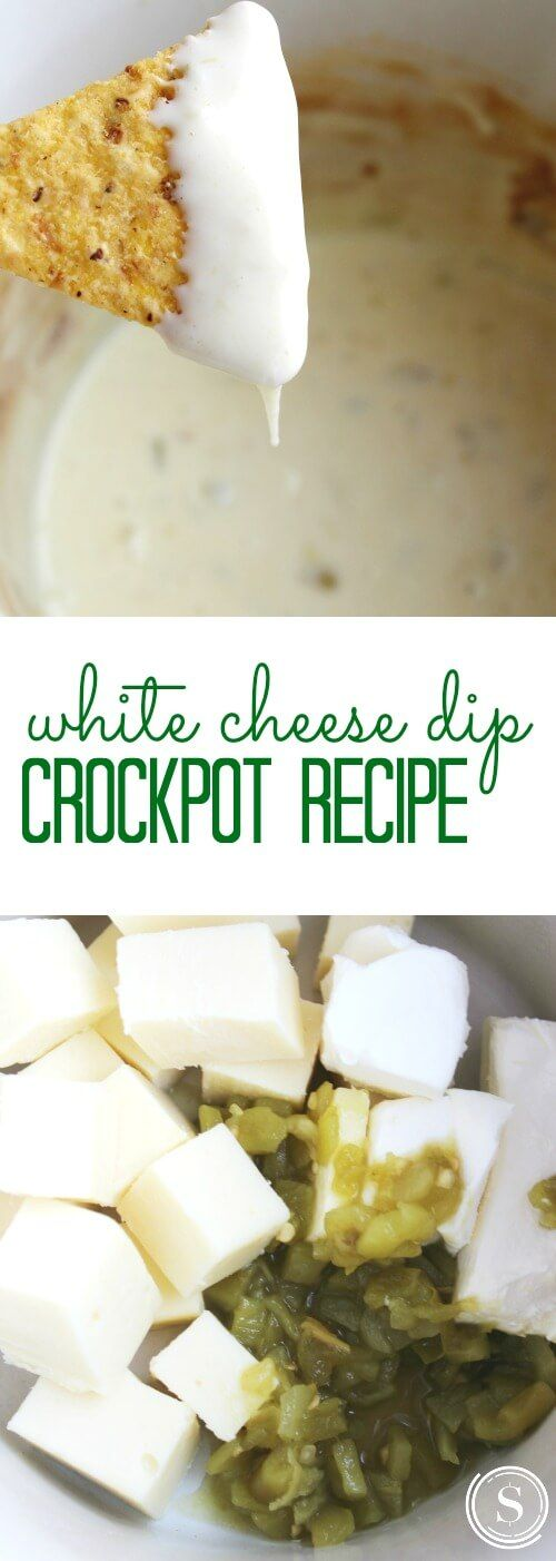 Crockpot White Cheese Dip Recipe! Easy Party Appetizer Recipe!