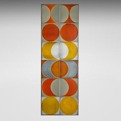 Roger Capron - Coffee table, circa 1960. Glazed ceramic tiles. http://www.galerieriviera.com