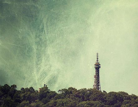 Landscape photography TOWER  PetrinPrague storm prague by MagicSky, Kč400.00