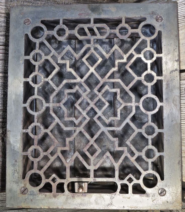 Heat Air Grate Register Vent Slider Louver Old 9 1 2 X 11 1 4 Vintage Iron 1894 Furnace Vent Vintage Rustic