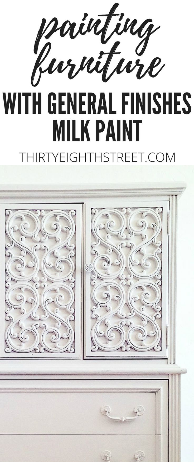 How To Paint Furniture With General Finishes Milk Paint! AMAZING Painting Furniture Tutorials and Before and After Furniture Makeover Ideas! | Thirty Eighth Street