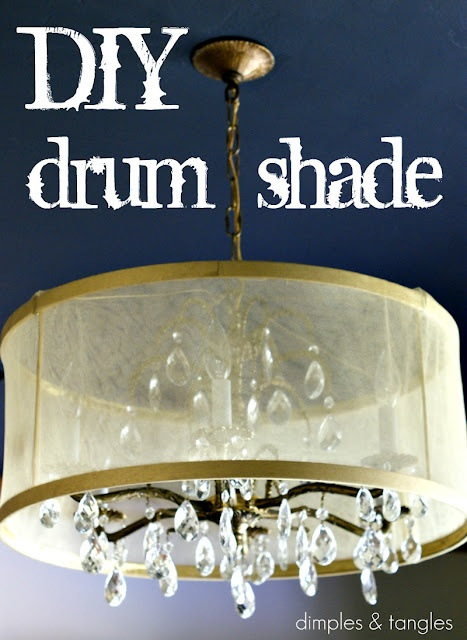 Make a pretty drum shade to spice up a chandelier .. going to do this in Morgan's room!