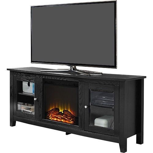 """Media Center With Fireplace Portable TV Stand Electric Fake Faux Flat Screen 60"""" #Unbranded #Contemporary"""