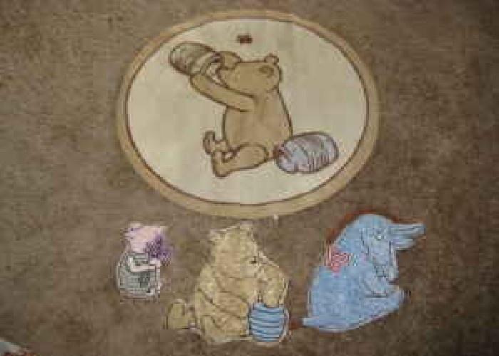 Clic Winnie The Pooh Rug And Wall Art 20 Eastern Horizon Ridge Baby Shower Nursery Pinterest
