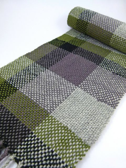 Plaid Woven Scarf by ashcornish. Woven on a Rigid Heddle Loom