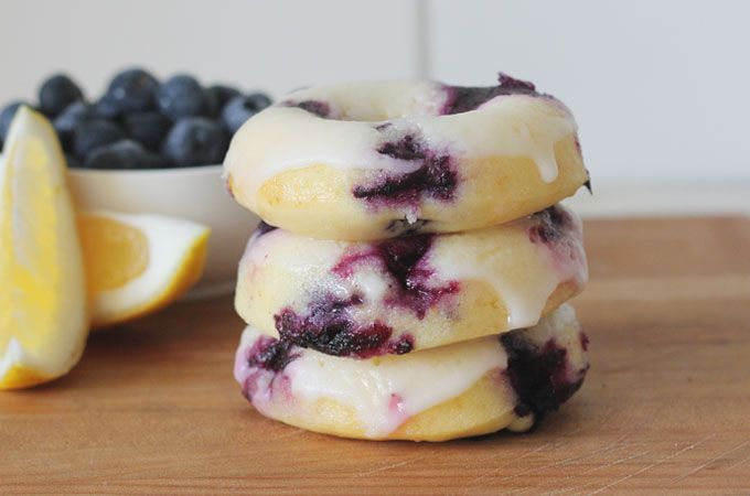 Blueberry & lemon baked doughnuts - High Tea with Dragons