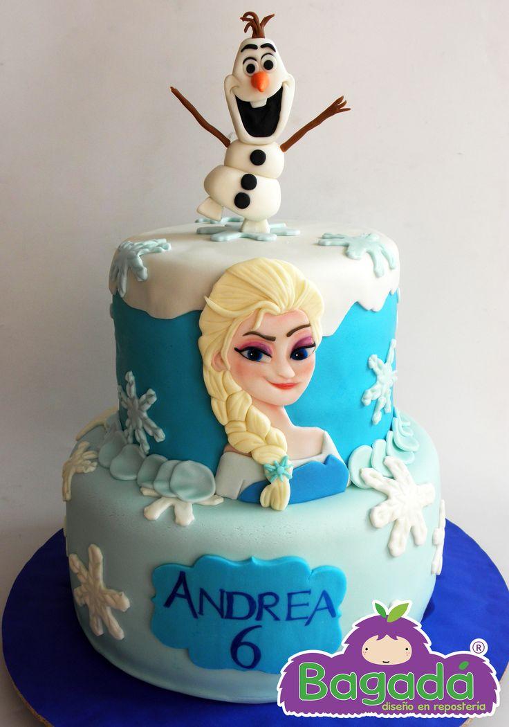 Pastel de Frozen. Bagadá repostería sobre diseño Tel. 15 95 49 84 echalegalleta@gmail.com  FB echalegalletapag