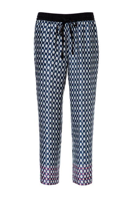 Foulard Zara Contrasting Print Trousers, $39.99 (on sale); zara.com  Read more: Womens Printed Pants - Designer Printed Pants Follow us: @ElleMagazine on Twitter | ellemagazine on Facebook Visit us at ELLE.com