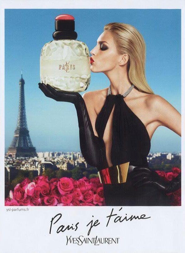 """""""Paris je t'aime"""" Yves Saint Laurent fragrance with Anja Rubik - Parfumerie et parapharmacie - Parfumeries - Yves Saint-Laurent"""