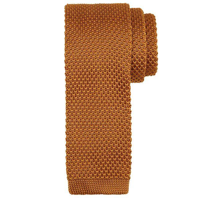 BuyKin by John Lewis Mercer Knitted Tie, Rust Online at johnlewis.com