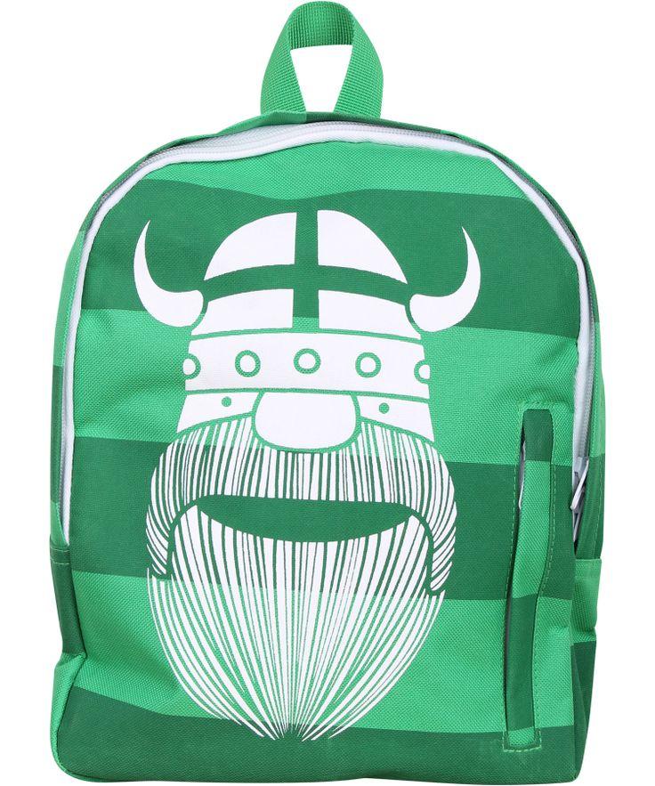 Magnifique sac à dos à rayures vertes avec Viking par Danefae #emilea