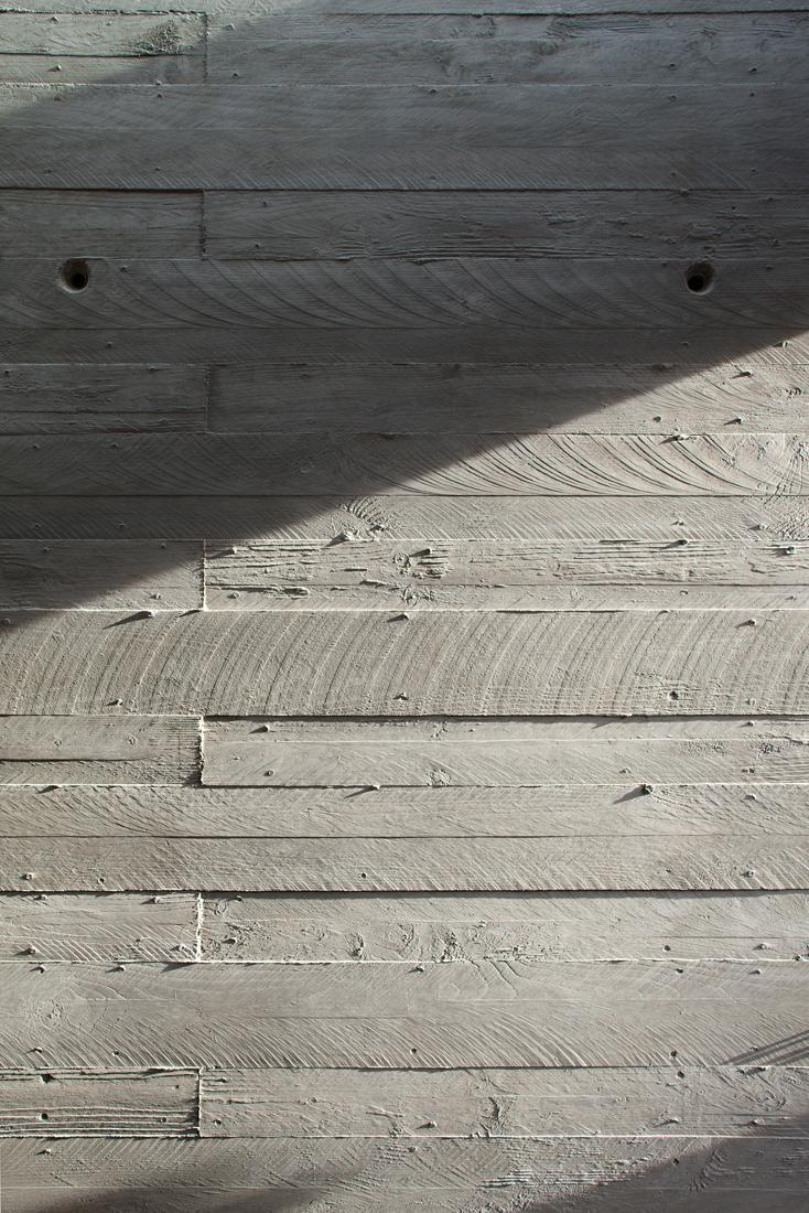 concrete pretending to be wood