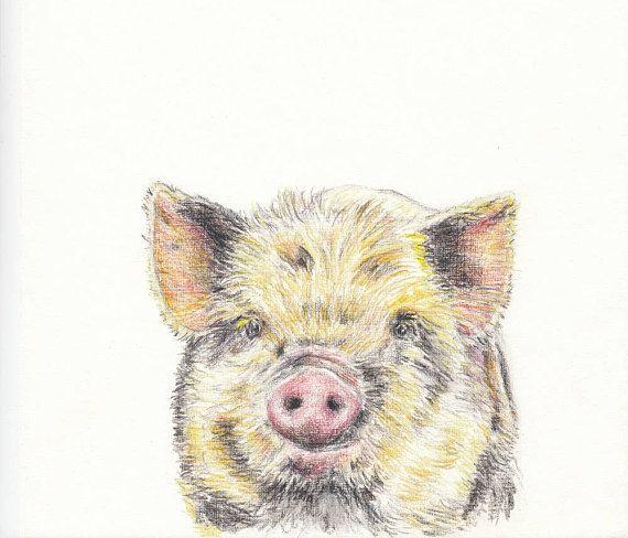 Baby animal print for nursery Pig digital download