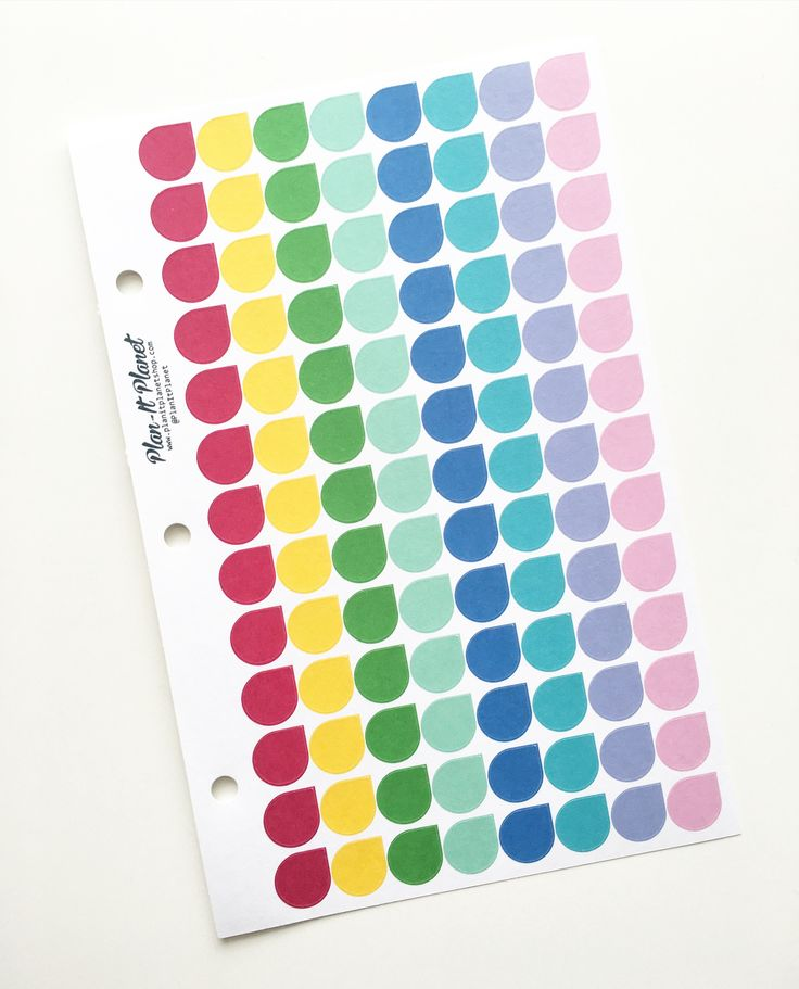 Tear Drop Pre-Punched Mini Binder Sheet