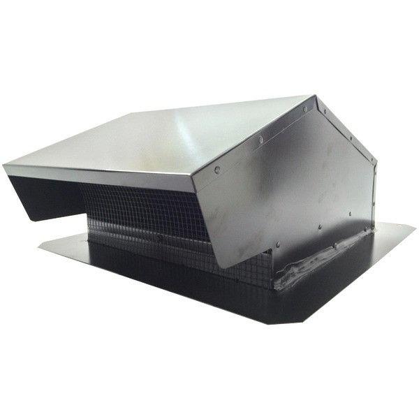 6-8In Roof Cap Blk Flush