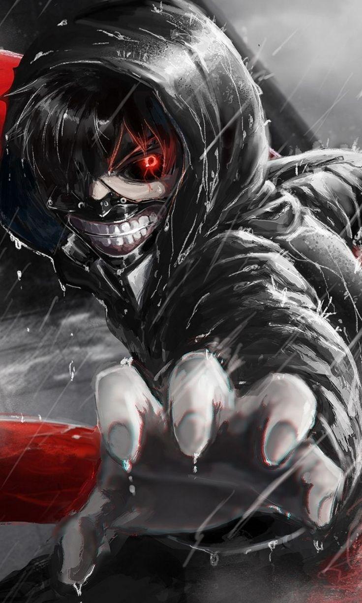 Gambar Animasi oleh king of war pada Tokyo ghoul Anime