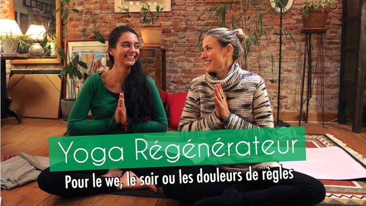 Yoga régénérateur |  Pour le we, le soir ou les douleurs de règles - Ilia Renon