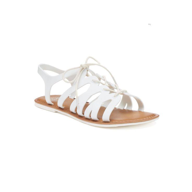 SO® Women's Jelly Gladiator Sandals, Size: medium (7.5), White #gladiatorsandals