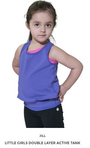 Little Girls Double Layered Tank www.jillyoga.com
