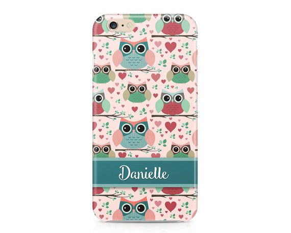 Ditch the boring store bought phone cases for this beautiful custom designed case! This cute pastel owl pattern phone case is just what you need to add a burst of playful style to your everyday wardrobe! Dress up your phone in this adorable case that works perfectly for an iPhone or Samsung Galaxy. The best part is I'll customize your new phone case with any name you want. This personalized phone case will quickly become your new favorite fashion accessory! Simply message me during checkout…