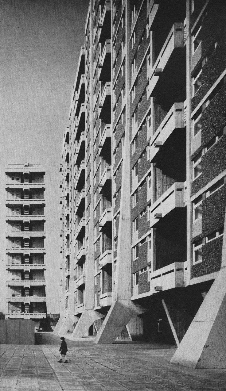 Tower Blocks, Hutchesontown, Gorbals, Glasgow, Scotland, 1962-65 (Basil Spence & Partners)