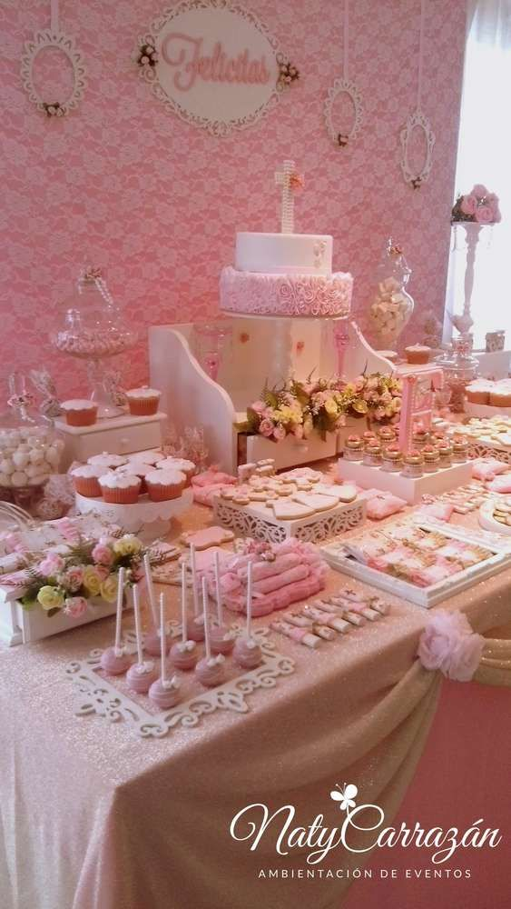 Best 25 girl baptism party ideas on pinterest girl for Baby girl baptism decoration ideas