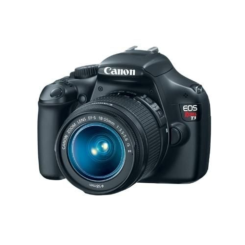Perfect for photographers ready to make the move to digital SLR photography, the EOS Rebel T3 delivers beautiful photos and video, speed, simplicity and fun. It features a 12.2 Megapixel... More Details