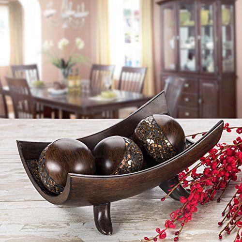 Creative Scents Schonwerk Decorative Bowl Centerpiece Crackled