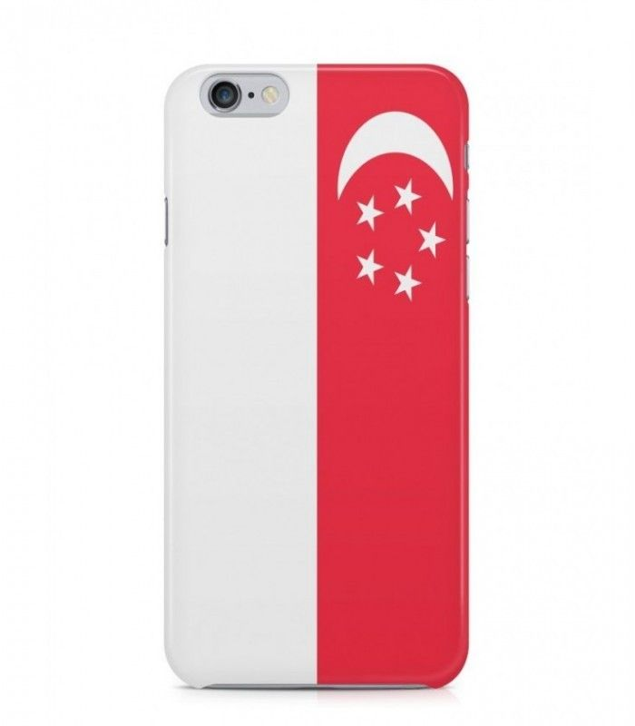 Singapore or Singaporean Flag 3D Iphone Case for Iphone 3G/4/4g/4s/5/5s/6/6s/6s Plus - FLAG-SG - FavCases