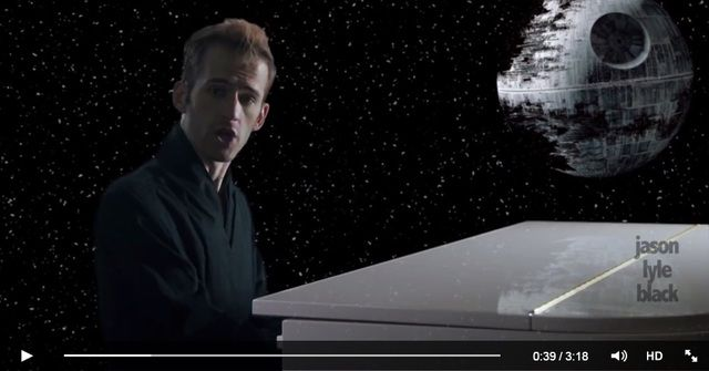 "A popular LDS YouTuber has taken his music to a new level--to a galaxy far, far away in fact--by creating this funny though endearing song, ""Shut Up and Duel With Me,"" a true love story that all Star Wars fans will love."