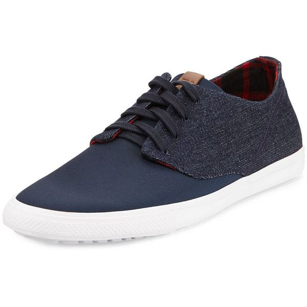 Ben Sherman Ron Denim Sneaker ($35) ❤ liked on Polyvore featuring men's fashion, men's shoes, men's sneakers, men, shoes, guys, menswear, mens shoes, mens denim shoes and mens sneakers