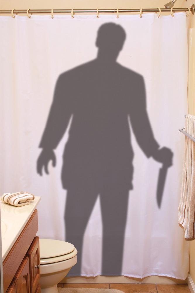 Stalker Shower Curtain Halloween Shower Curtain Scary Halloween