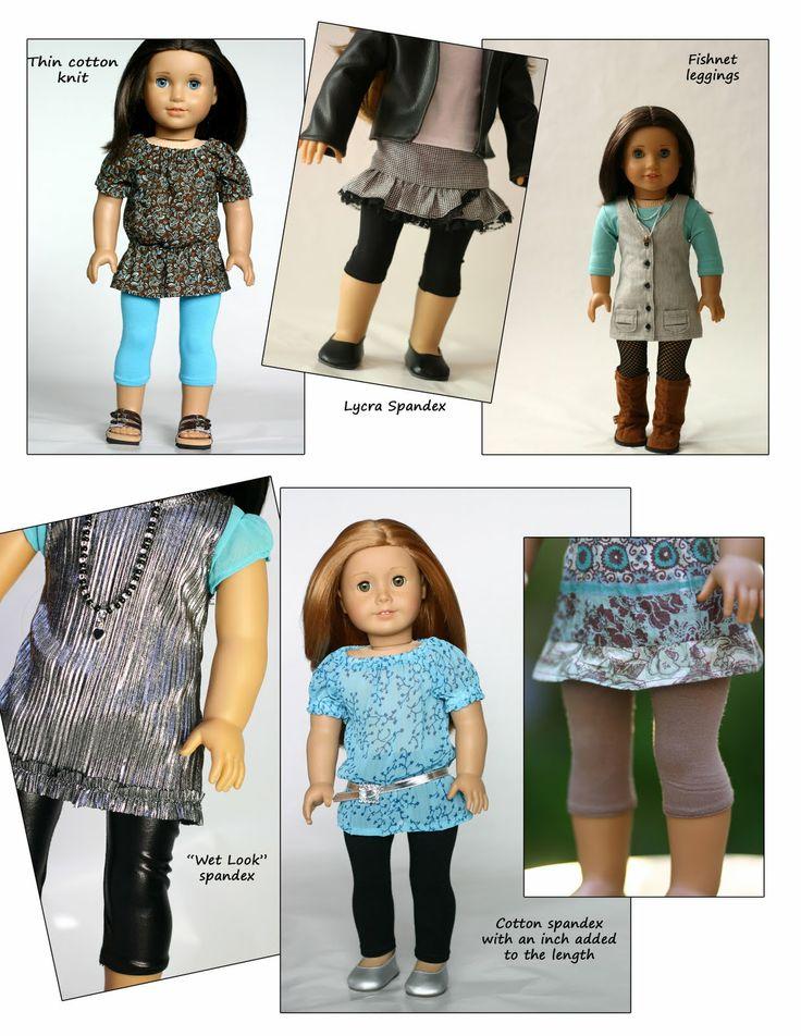 Leggings Pattern for American Girl Doll Clothes | Liberty Jane Doll Clothes Patterns For American Girl Dolls