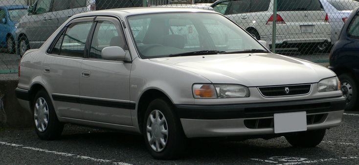 Toyota Corolla - Oitava geração (1995). Confira notícias sobre o mundo automotivo: https://www.consorciodeautomoveis.com.br/informacoes-consorcio-automoveis?utm_source=Pinterest