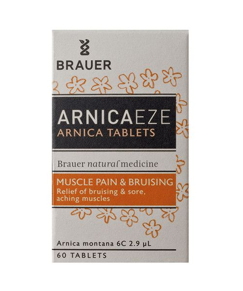 Arnicaeze Arnica Tablet 60- Arnicaeze Arnica Tablets for muscle pain and bruising contain Arnica Montana, which is traditionally used in homeopathic medicine to help relieve strains, sprains, bruising and sore, aching muscles. It may therefore help to relieve muscular pain caused by overexertion, heavy work or sporting activities. The small tablets dissolve quickly under your tongue.
