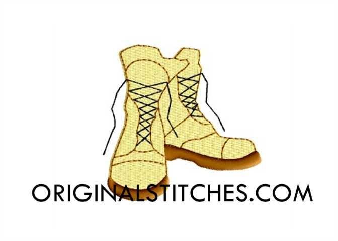 Combat Boots, Original Stitches