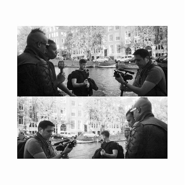 Guztavo from EMPO TV interviewing my artists GLOWINTHEDARK in Amsterdam (2014)