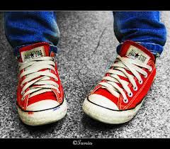 Loving the red converse shoes