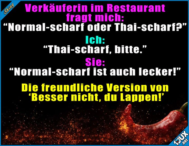 Ich schaff das schon! #Essen #Thailändisch #Thai #scharf #Sprüche #Humor #lustigeBilder #lachen #Statusbilder Humor