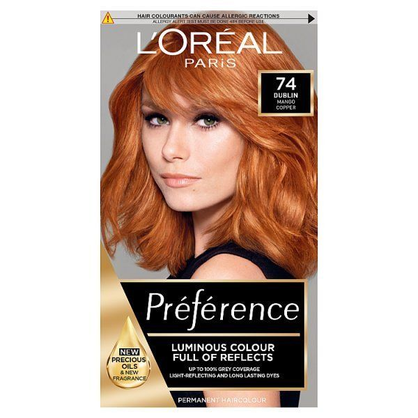 Preference Infinia P74 Mango Intense Copper Hair Dye Dyed Hair