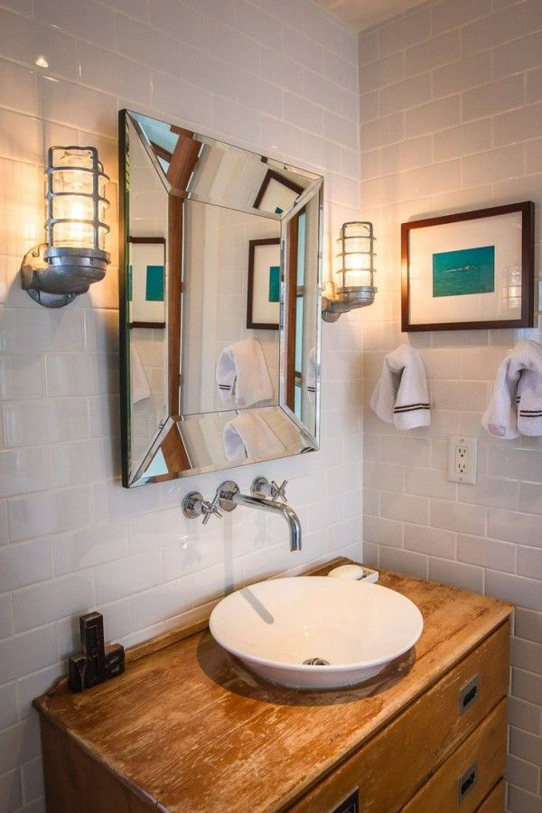 Nautical bathroom design home decor pinterest for Beach cottage bathroom ideas