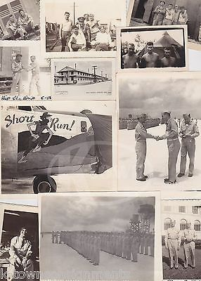 SHORT RUN! WWII BOMBER PLANE NOSE ART CHANUTE AIR FORCE BASE SNAPSHOTS PHOTOS