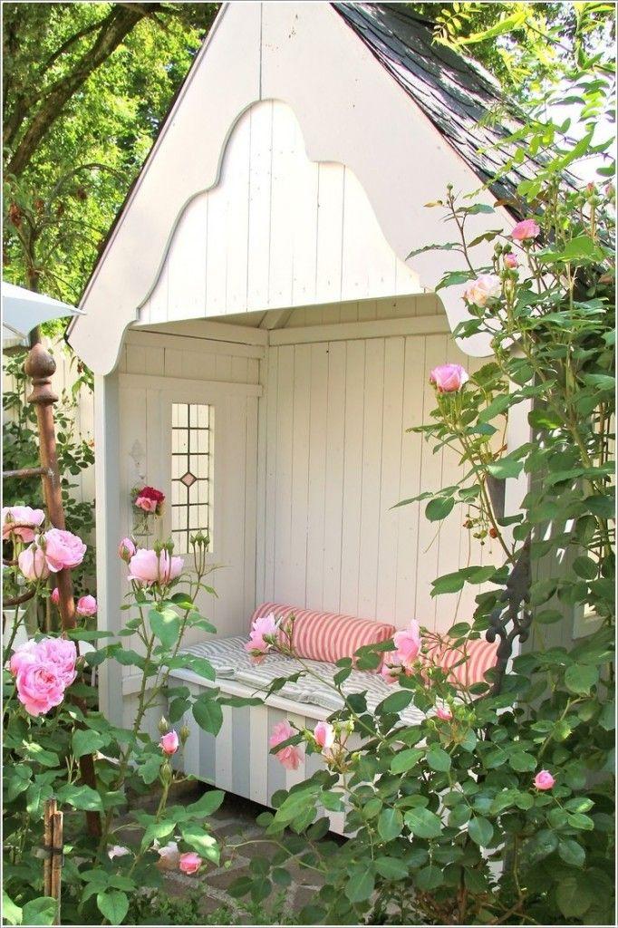 1. Уютный садовый уголок для чтения